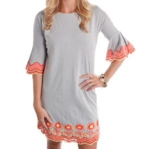 Missy Robertson Crochet Trim Shift Dress